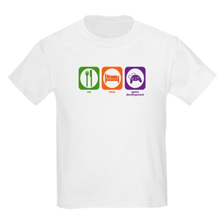 Eat Sleep Game Development Kids Light T-Shirt