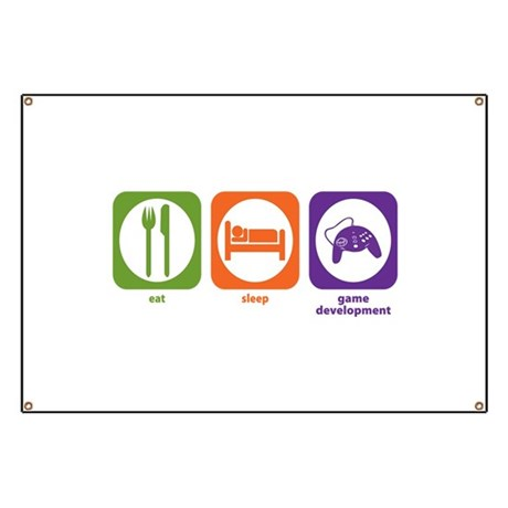 Eat Sleep Game Development Banner