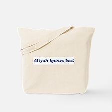 Aliyah knows best Tote Bag