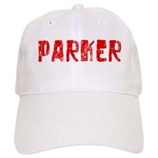 Parker Faded (Red) Baseball Cap