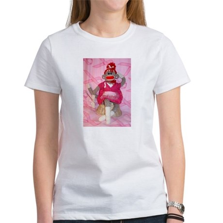 Sock Monkey for the Cure Women's T-Shirt