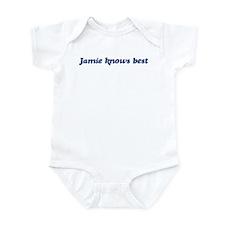 Jamie knows best Infant Bodysuit