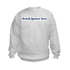 Brock knows best Sweatshirt