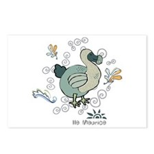 Dodo grey 2 Postcards (Package of 8)