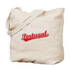 Retro Portugal (Red) Tote Bag