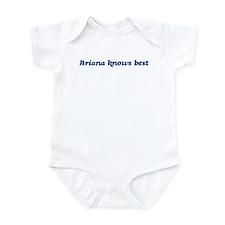 Briana knows best Infant Bodysuit