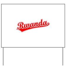 Retro Rwanda (Red) Yard Sign