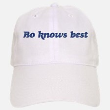 Bo knows best Baseball Baseball Cap
