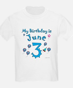 June 3rd Birthday T-Shirt