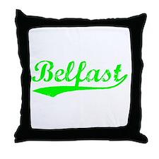 Vintage Belfast (Green) Throw Pillow