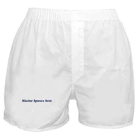Blaine knows best Boxer Shorts