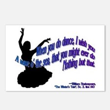 Shakespeare Dance Quote Postcards (Package of 8)