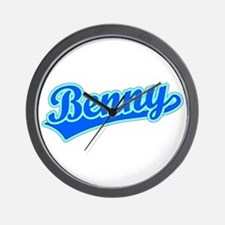 Retro Benny (Blue) Wall Clock