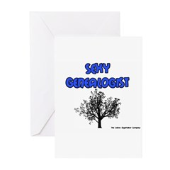 Sexy Genealogist Greeting Cards (Pk of 10)