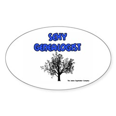 Sexy Genealogist Oval Decal