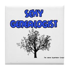 Sexy Genealogist Tile Coaster