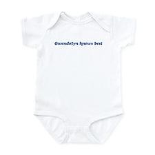 Gwendolyn knows best Infant Bodysuit