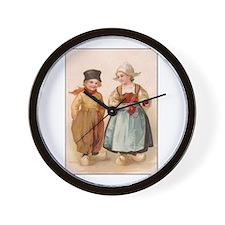 Dutch Children - Knitting Wall Clock