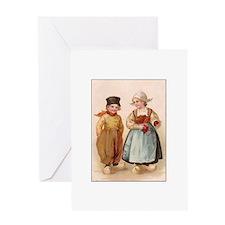 Dutch Children - Knitting Greeting Card