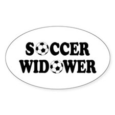 Soccer Widower Oval Decal