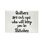Quilters Keep You In Stitches Rectangle Magnet (10