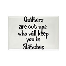 Quilters Keep You In Stitches Rectangle Magnet