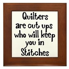 Quilters Keep You In Stitches Framed Tile