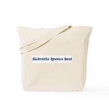 Gabriela knows best Tote Bag