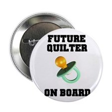 """Future Quilter on Board - Mat 2.25"""" Button"""