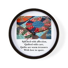 Quilts - Warm Treasures Wall Clock