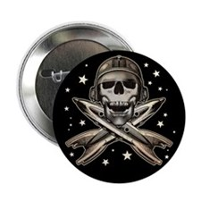 """Space Pirate (Rockets) 2.25"""" Button"""
