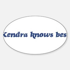 Kendra knows best Oval Decal