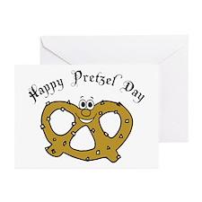 Happy Pretzel Day Greeting Cards (Pk of 10)