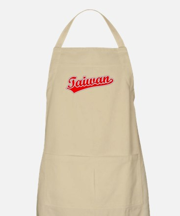 Retro Taiwan (Red) BBQ Apron