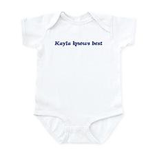 Kayla knows best Infant Bodysuit