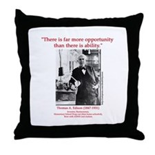 More Opportunity Throw Pillow