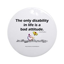 Bad Attitude Ornament (Round)