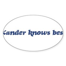 Xander knows best Oval Decal