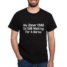 Waiting For A Horse Dark T-Shirt