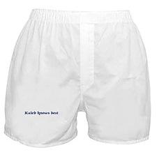 Kaleb knows best Boxer Shorts