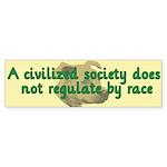 Civilized Society Against BSL Sticker (Bumper 10 p