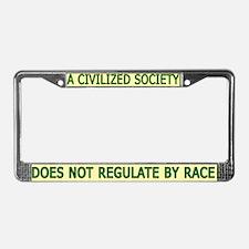Civilized Society Against BSL License Plate Frame