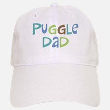 Puggle Dad (Text) Baseball Baseball Cap