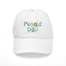 Puggle Dad (Text) Baseball Cap