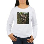 Baby Raccoon Women's Long Sleeve T-Shirt