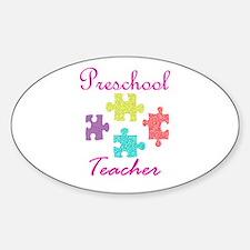 Preschool Teacher Sticker (Oval)