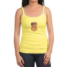 American Flag Angel Jr.Spaghetti Strap