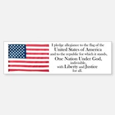 Pledge of Allegiance Bumper Bumper Bumper Sticker