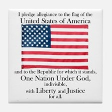 Pledge of Allegiance Tile Coaster