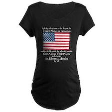 Pledge of Allegiance Maternity Black T-Shirt